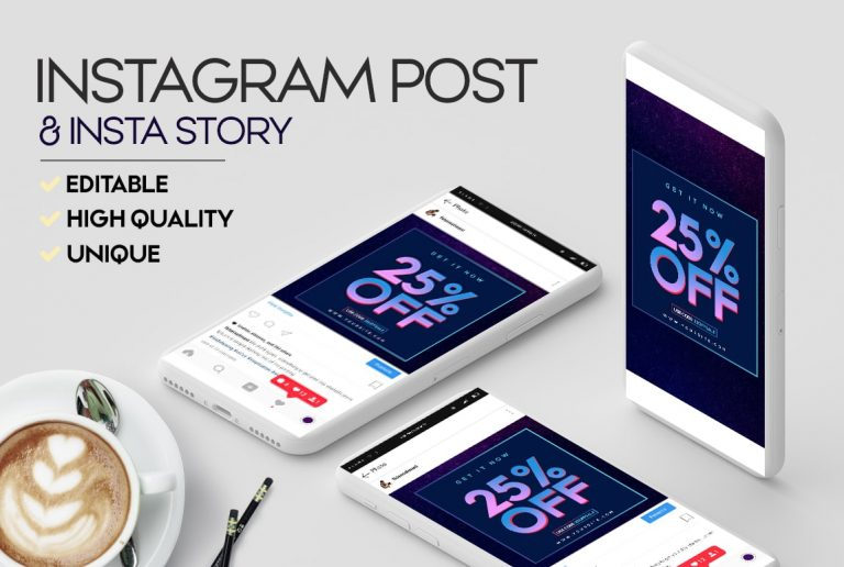 26. Sale Banner - Free Instagram Banner & Story Template PSD