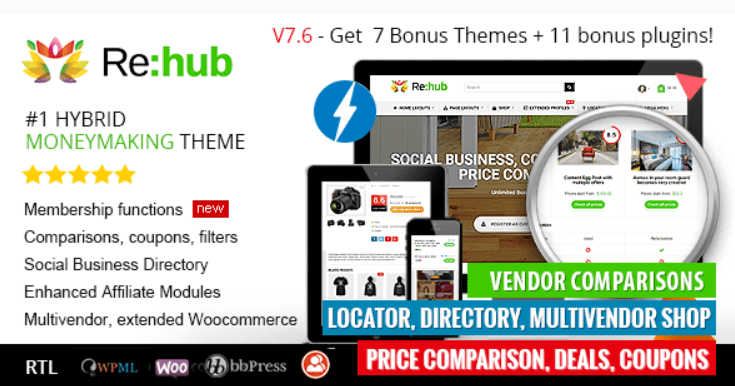 28 - REHub Price Comparison Affiliate Marketing Multi Vendor Store Community Theme