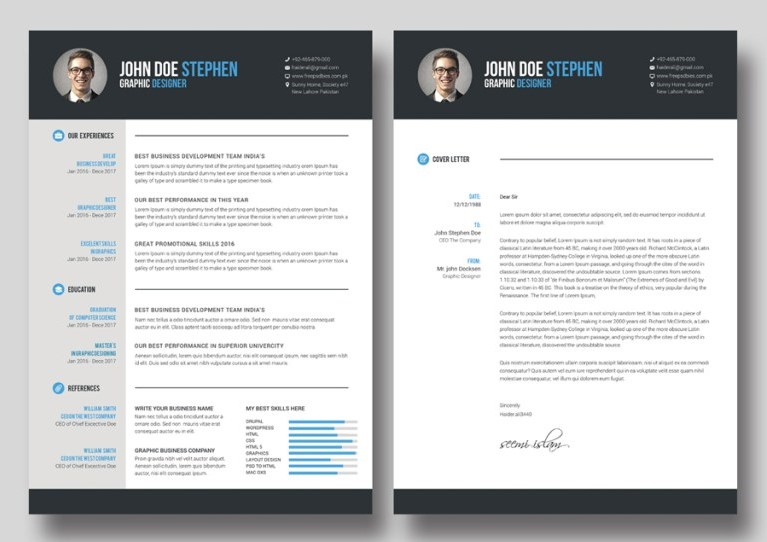 3 - Free Ms.Word Resume and CV Template