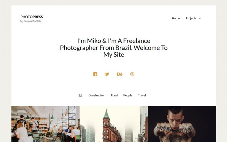 3 - PhotoPress Responsive WordPress Theme