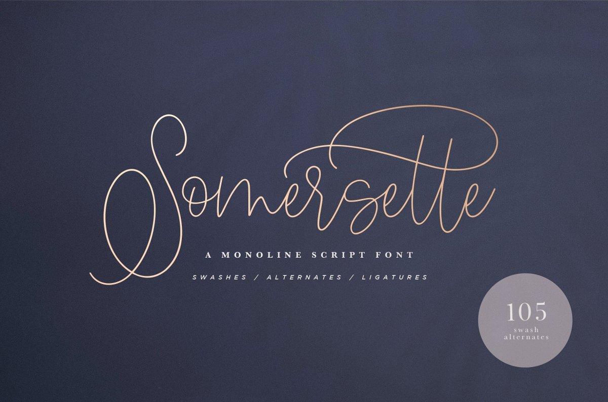 32. Somersette Script Font (INTRO SALE)