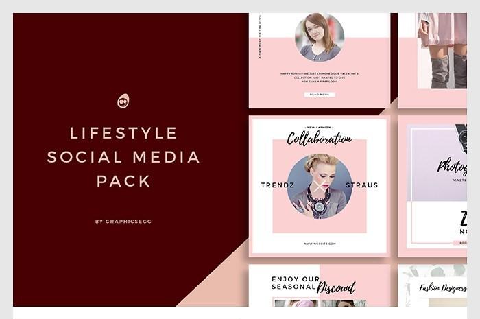 Lifestyle Social Media Instagram Templates PSD