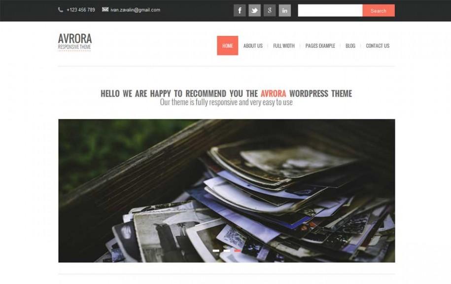 38 - Avrora Free WordPress Theme