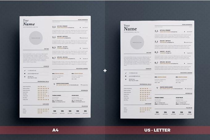 4 - Typgraphic Resume Template