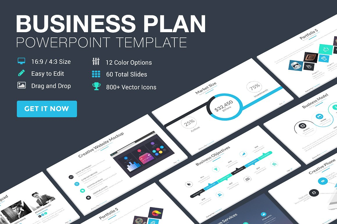 4. Business Plan PowerPoint Template