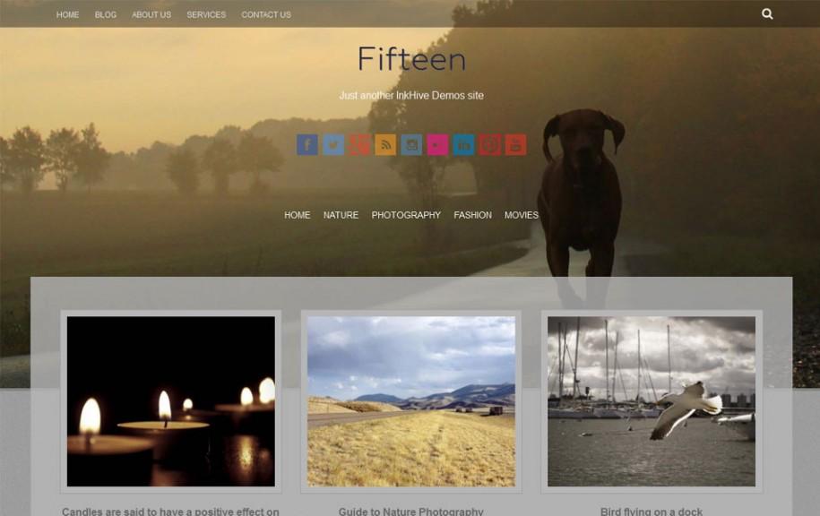 41 - Fifteen Free Portfolio WordPress Theme