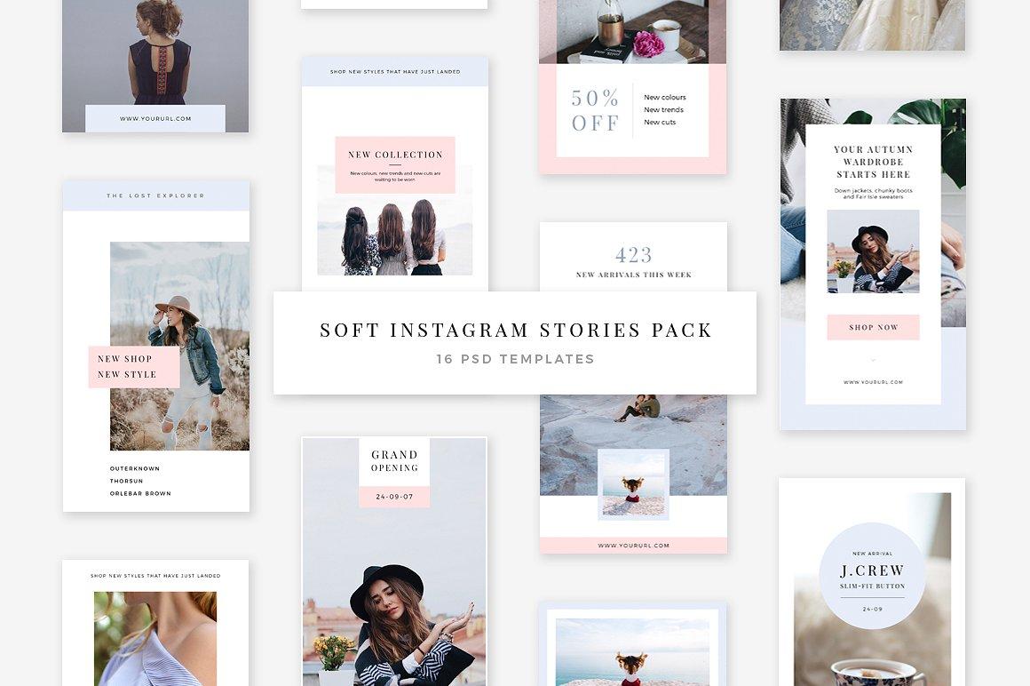 49. Soft Instagram Stories Pack