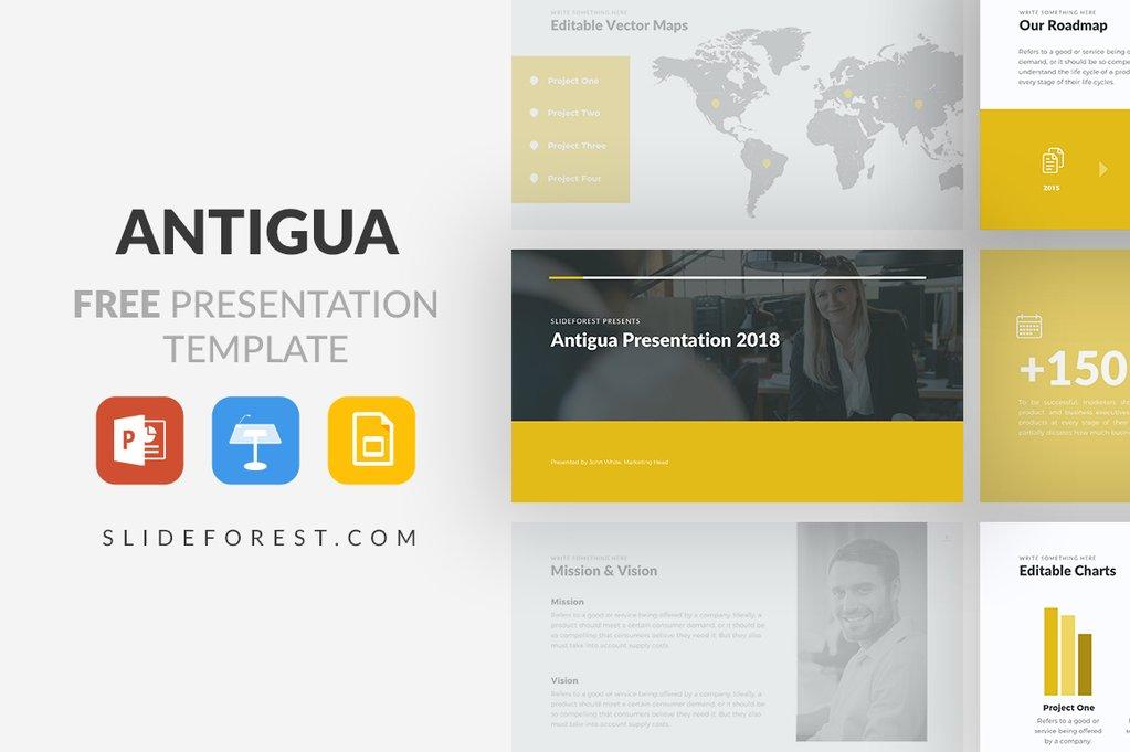 5 - Antigua Free Presentation Template