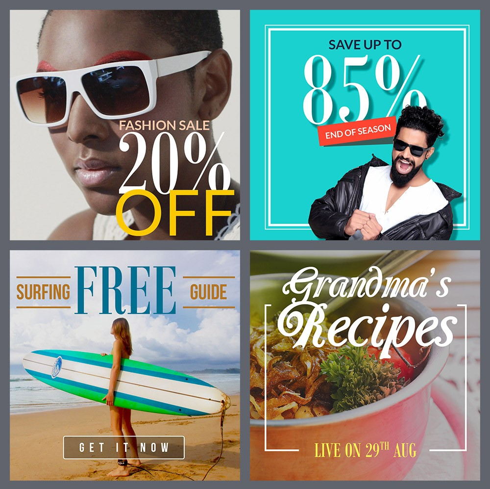 6. Instagram Promo Banner Templates PSD