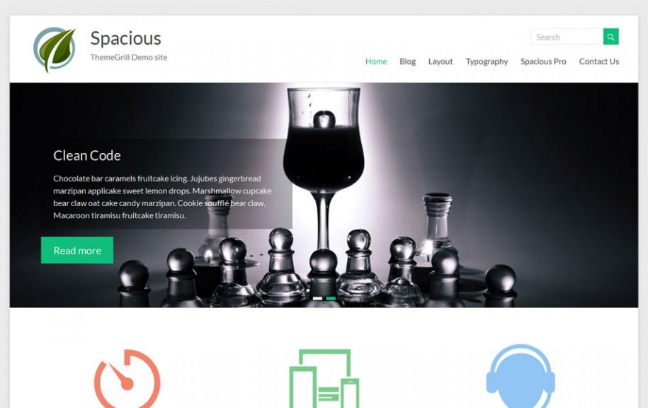 62 - Spacious Free Portfolio WordPress Theme