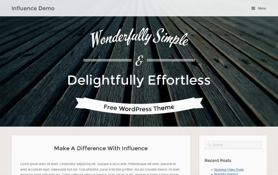 66 - Influence Free Portfolio WordPress Theme