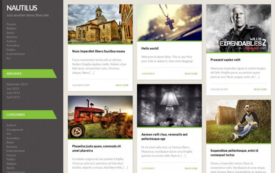 72 - Nautilus Free Portfolio WordPress Theme