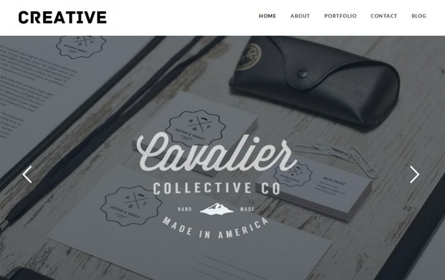 74 - Creative Free Portfolio WordPress Theme