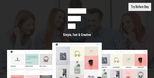 9 - Fizz - Responsive WordPress Portfolio Theme