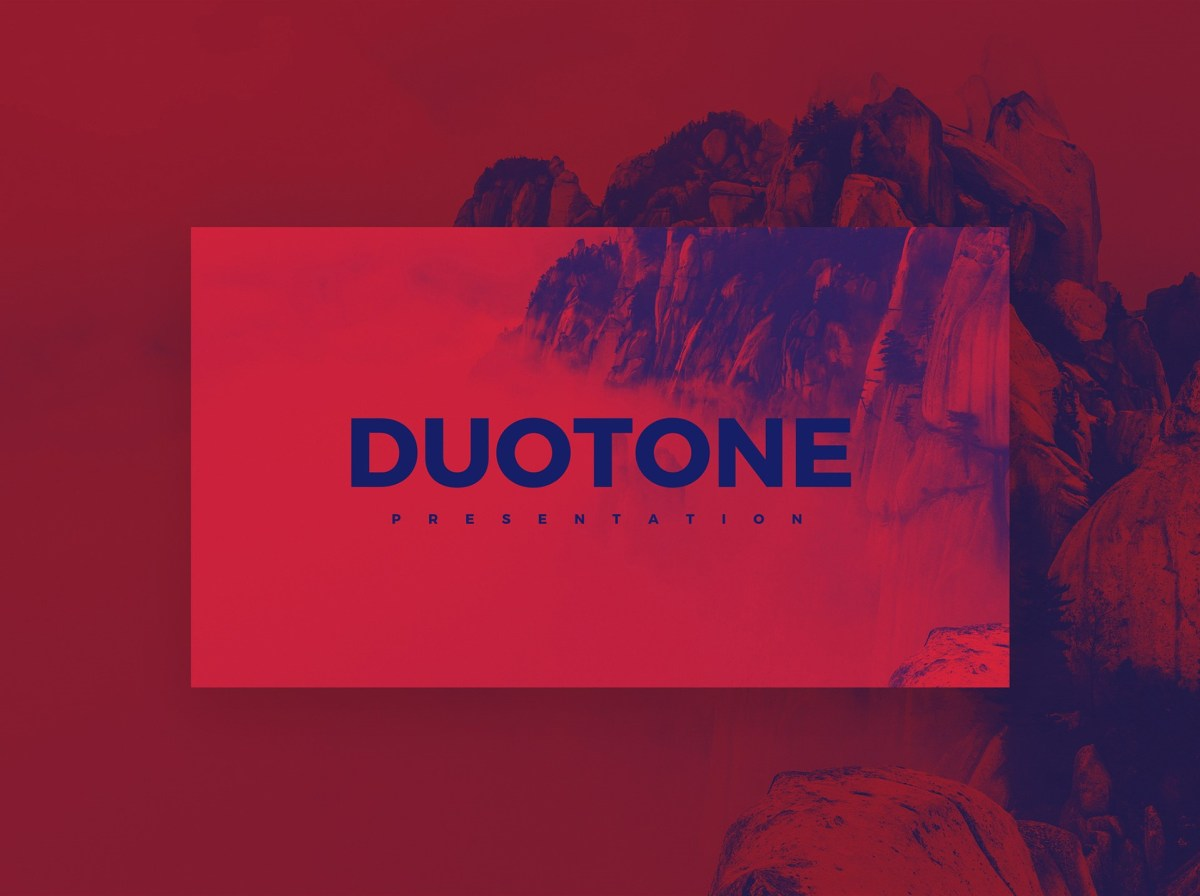 Doutone Free Minimal PowerPoint Template