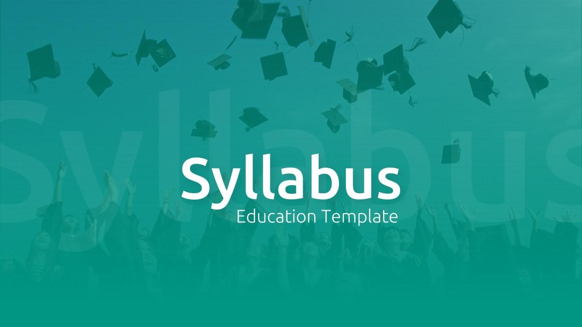 Syllabus - Education PowerPoint Template 1