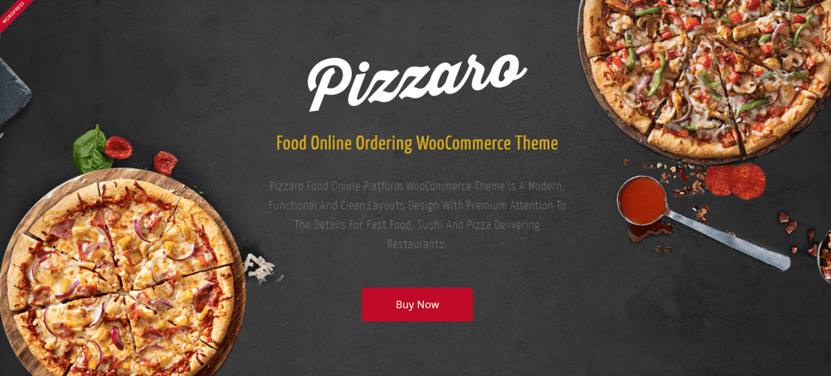 27. Pizzaro - Fast Food & Restaurant WooCommerce Theme