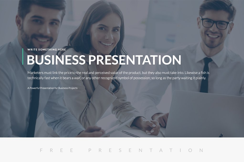 Business Proposal Free Presentation Template