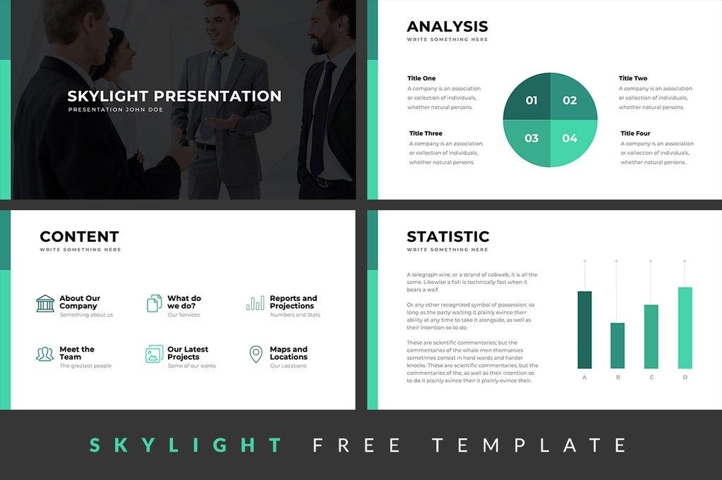Skylight Free Presentation Template