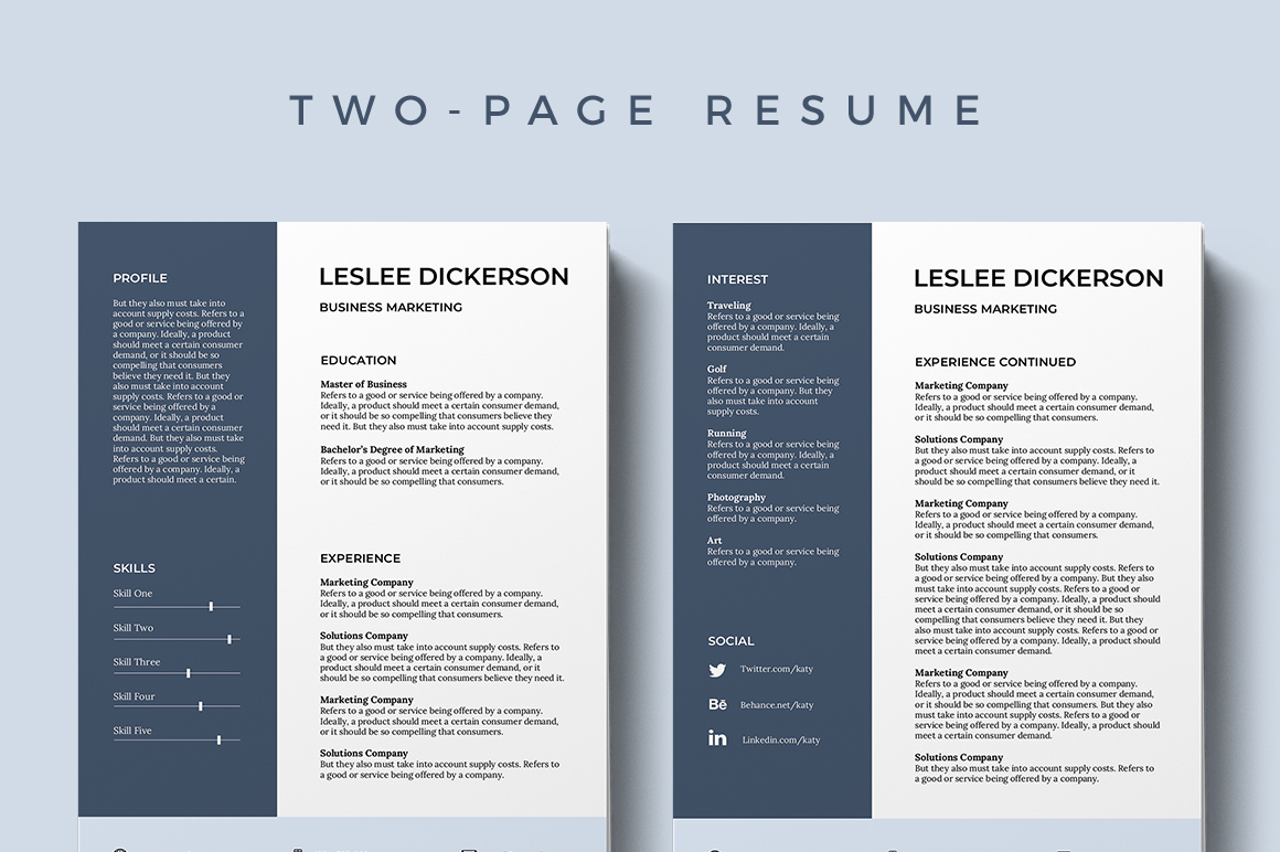 Best Modern Resume Template 61