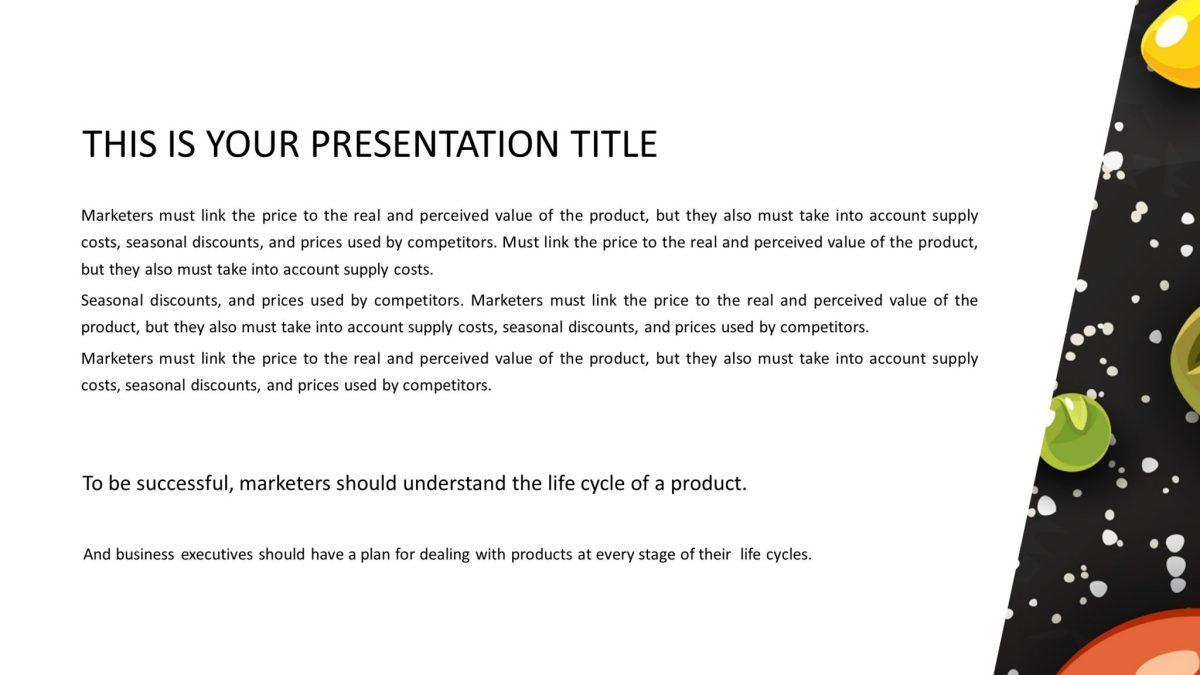 Free Kitchen Presentation Template