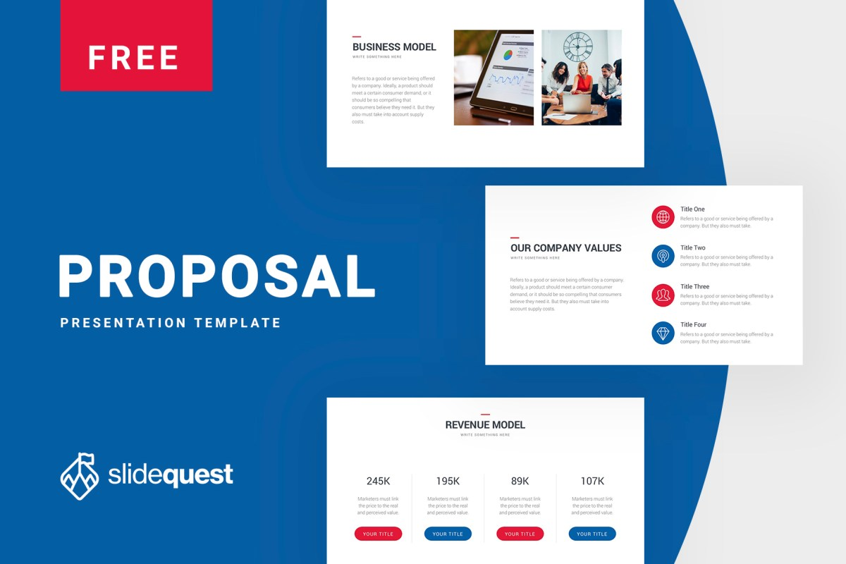 Free Pitch Deck Presentation Template