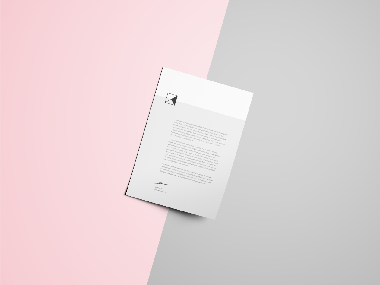 Portfolio showcases, typographic work, photography, or business branding, it will get crafted with delicacy and proficiency. Letter Head Mockup