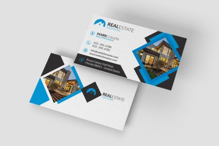 Real Estate Business Card 37   Graphic Pick Real Estate Business Card is a modern and professional print template for real  estate company or real estate business  Files are fully editable