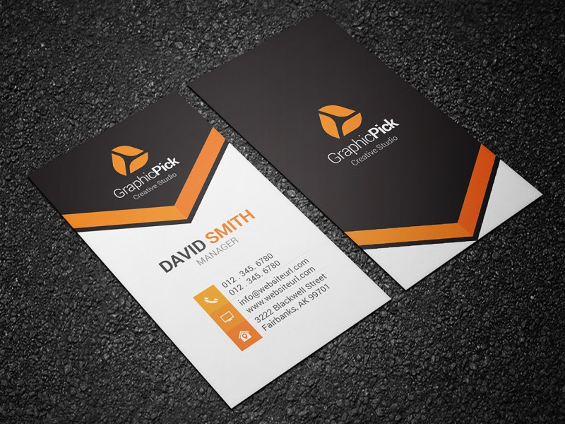 Modern Creative Business Card 139   Graphic Pick Creative Business Card is a modern and professional print template for  company or business  Files are fully editable  all elements are in high  quality