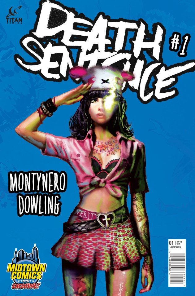 Death Sentence #1 Cover Second Printing Midtown Variant