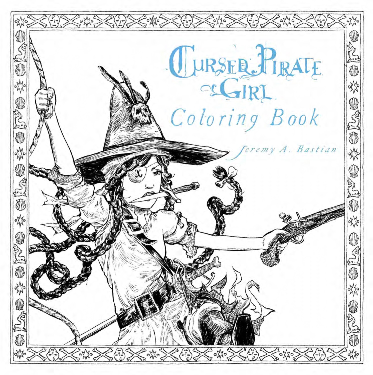 Preview Cursed Pirate Girl Adult Coloring Book