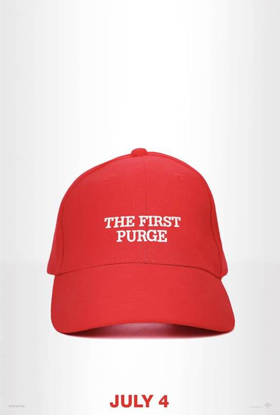 The First Purge poster Graphic Policy