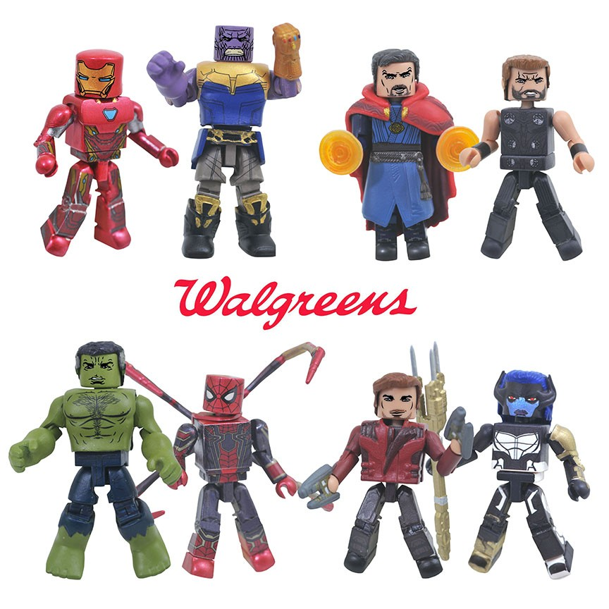 Other Action Figures Action Figures Marvel Minimates Walgreens Wave 9 Star-lord Making Things Convenient For The People