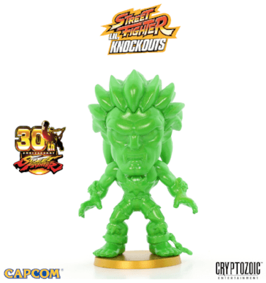 Metallic Green Blanka Street Fighter Lil Knockouts Vinyl Figure 1