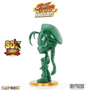 Metallic Green Cammy Street Fighter Lil Knockouts Vinyl Figure 2