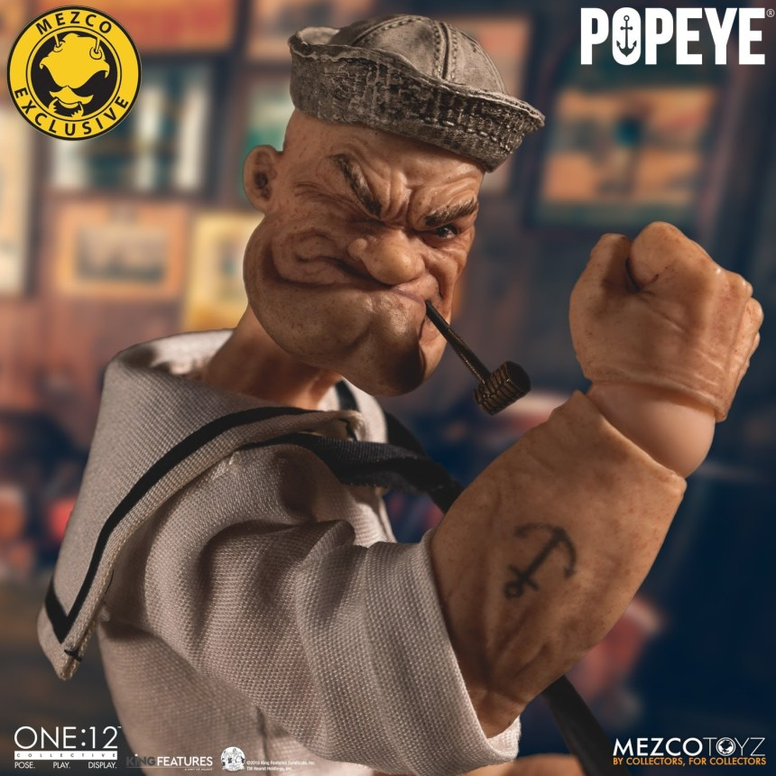 One:12 Collective Popeye – Deluxe Sailor Edition closeup