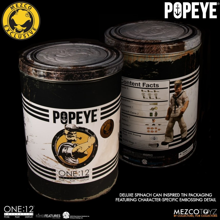 One:12 Collective Popeye – Deluxe Sailor Edition packaging