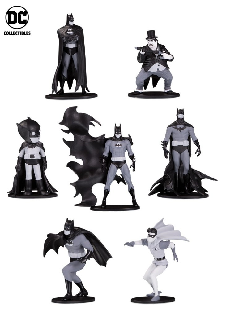 BATMAN BLACK & WHITE Mini Figures