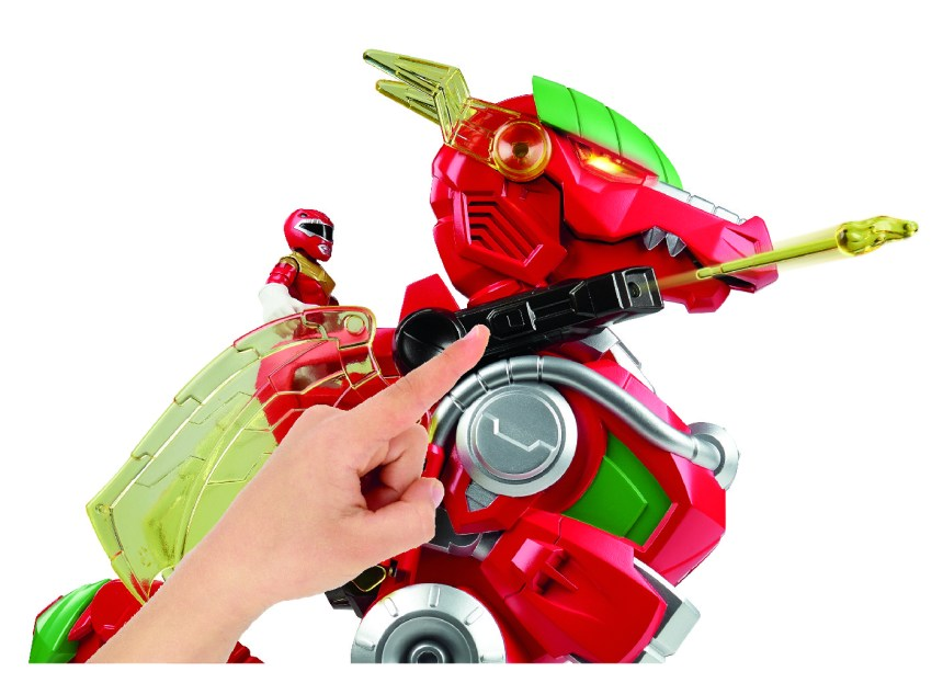 POWER RANGERS PLAYSKOOL HEROES RED RANGER AND DRAGON THUNDERZORD Figures