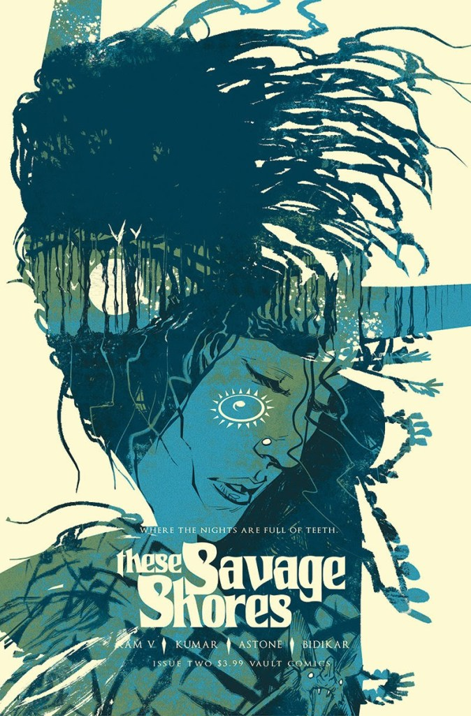 These Savage Shores Issue #2, Cover art featuring Kori