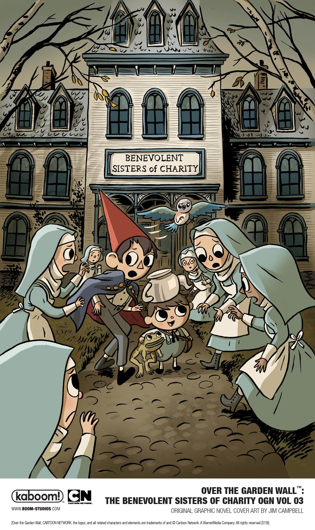 Boom Announces A New Graphic Novel Over The Garden Wall The Benevolent Sisters Of Charity Graphic Policy