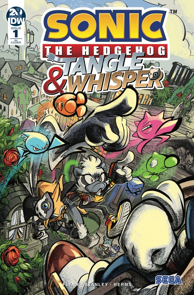 Idw Sonic The Hedgehog Tangle Whisper 1 Variant 2019 Sdcc Comic Con Exclusive Fifasteluce Com