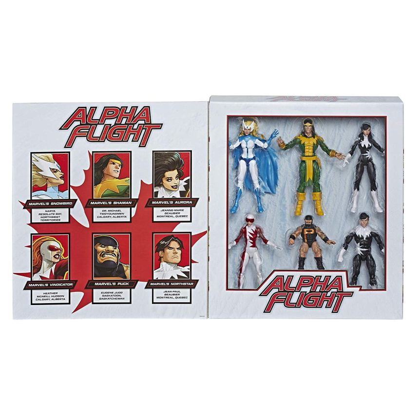 MARVEL LEGENDS SERIES 6-INCH APLHA FLIGHT 6-Pack opened