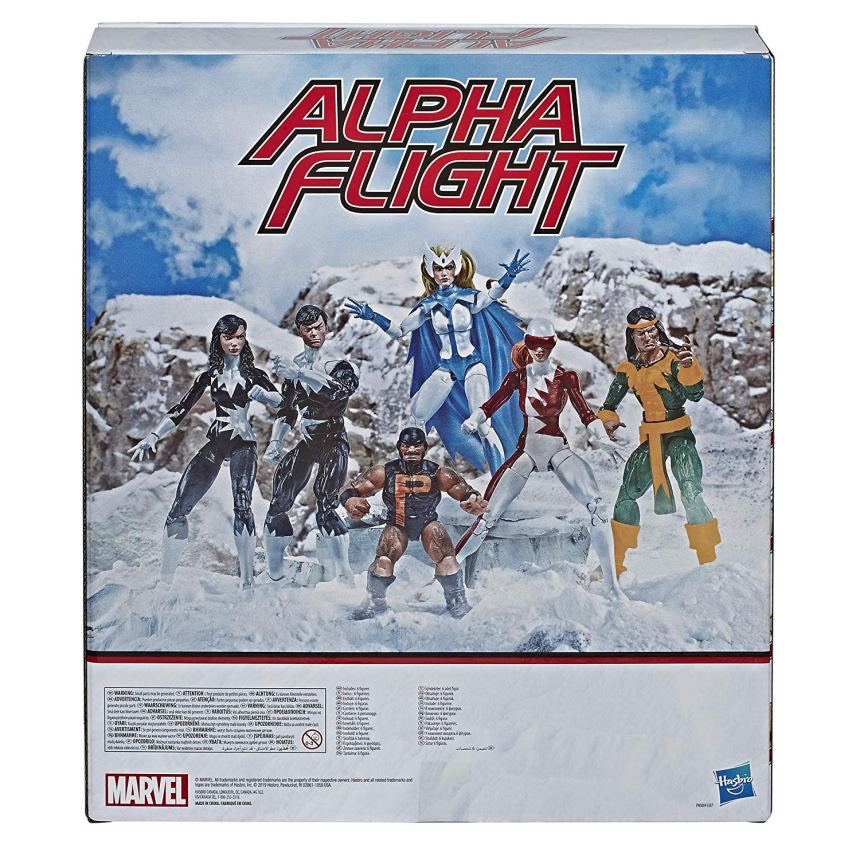 MARVEL LEGENDS SERIES 6-INCH APLHA FLIGHT 6-Pack box back