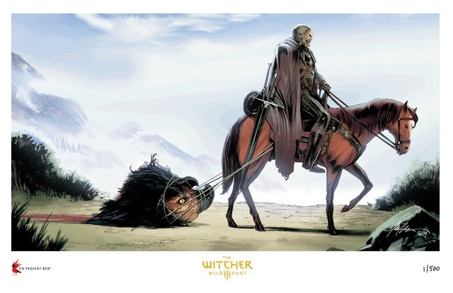 "Dark Horse Direct's The Witcher 3: Wild Hunt Giclée Fine Art Print, ""The Beast of White Orchard"" (Rafael Albuquerque)"