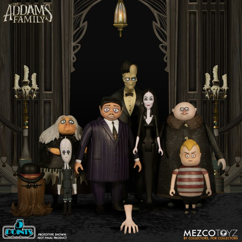The Addams Family 5 Points figures