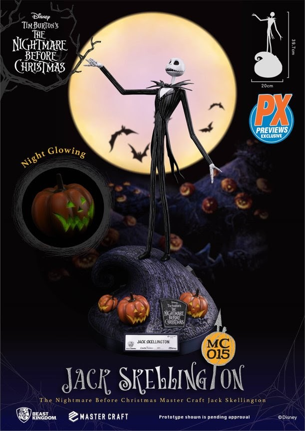 PREVIEWS Exclusive Nightmare Before Christmas MC-015 Jack Skellington Statue
