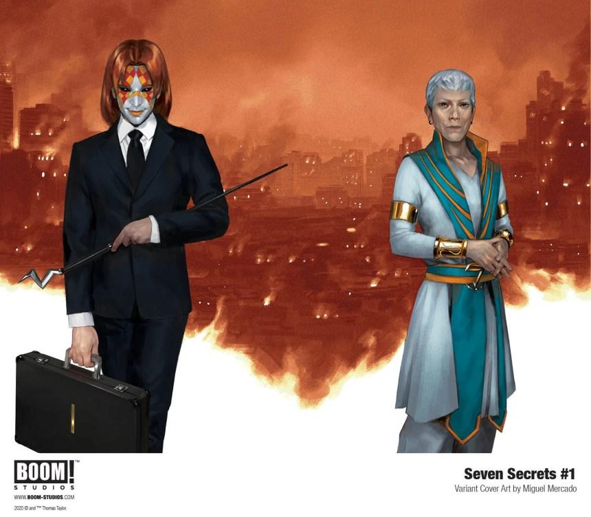 Seven Secrets #1 Miguel Mercado cover