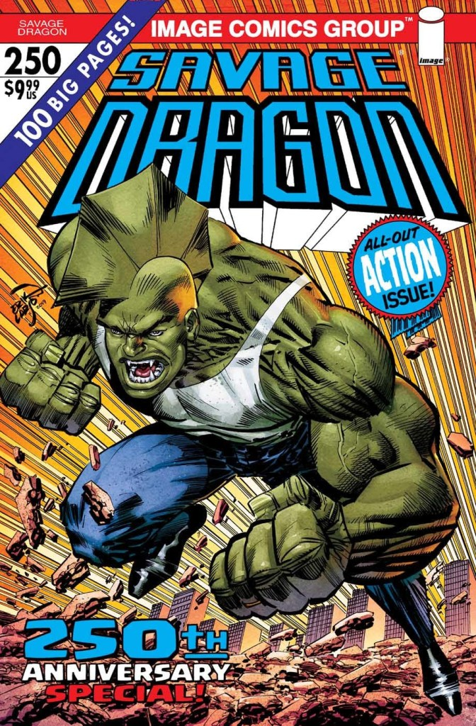 Savage Dragon #250, second printing