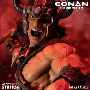 Mezco's Static Six: Conan The Cimmerian statue